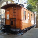 old tram wagon - tourist info