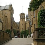 Burg Hohenzollern - inside the castle courtyard