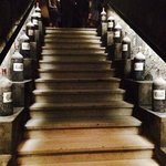Stairway in the caves of Lafite Rothschild...