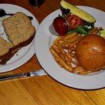 Pastrami & green chile soup; hamburger & fries