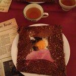 menu , galette et cidre