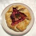 Plum and Strawberry Galette