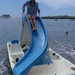 pedal boat on monterosso beach