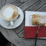 A fantastic cake and coffee