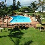 View overlooking pool area.