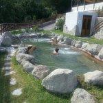 una vasca termale