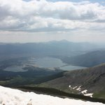 View of Twin Lakes from top of Mt. Elbert