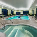 Indoor heated swimming pool and whirlpool