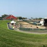 Panorama of the concert venue next to Stateside Hotel - Jeezum Crow Festival July 2014