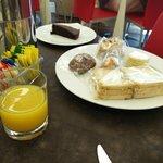 Desayuno sin gluten en el Hotel.