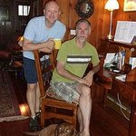 Wonderful hosts: David & Charles, with their dog Cooper