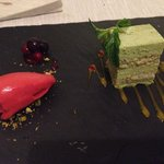 Fantastic sorbet and green tea tiramisu <3