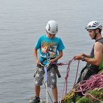 First time abseiling