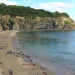 Porthpean beach, one way