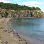 Porthpean beach, one way