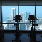 Fitnesscenter im 46.Stockwerk