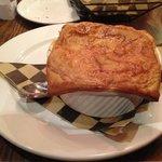 Chicken pot pie with a flakey crust