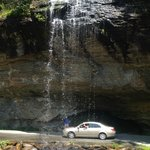 Drive through Waterfall!