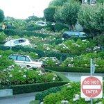 Lombard Street - krokiga gatan nedifrån