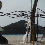 kiosque délabré sur la plage