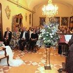 Salón donde se celebró la boda debido a la lluvia