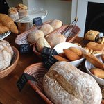 Freshly baked artisan breads and wonderful fried parcels