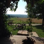 Blick von der Veranda auf das idyllische Umland