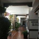 Hotel courtyard area