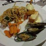 An other meals buffet. Seafood menu.