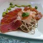 Sashimi appetizer - the only acceptable menu item we tried