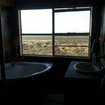 La vista dal bagno