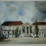 Esta uma pintura a óleo da Universidade de Coimbra (vista por mim)