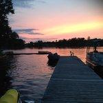 Amazing sunset view at docks