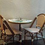 French bistro style seating