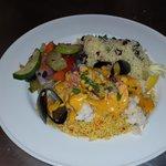 mixed seafood biryani w/ couscous