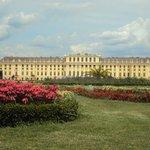 palácio com o jardim
