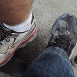 situação do sapato após passeio
