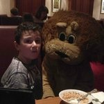Lenny the Lion at breakfast