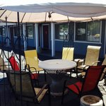 Enjoy the shade under one of our outdoor cabanas!