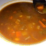 Beef vegetable soup was not that great
