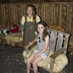 Granddaughter with a young lady who portrayed a Viking Trader. Very knowledgable and sweet.