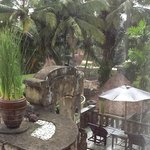 View from my villa in the rain