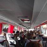 Ônibus limpo e confortável
