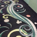Hidden Mickey hallway carpet