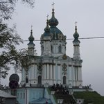 View to the church from Andriyivski Uzviz.