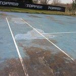 Cancha de tenis en la actualidad