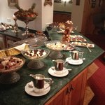 Part of the dessert buffet