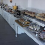 A tasty and full of variety breakfast buffet