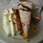 tarta de zanahoria y coco rallado