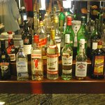 Great selection of spirits in the Executive Lounge